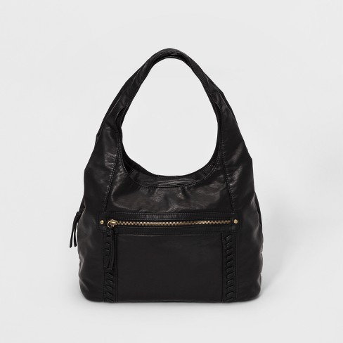 Bueno Pebble Washed Hobo Handbag