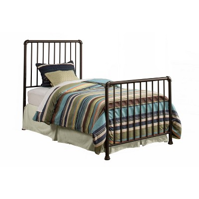 Twin Brandi Metal Bed Set Bed Frame Not Included Oiled Bronze - Hillsdale Furniture