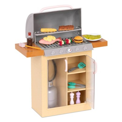 "Our Generation BBQ Playset with Play Food for 18"" Dolls - Backyard Grill"
