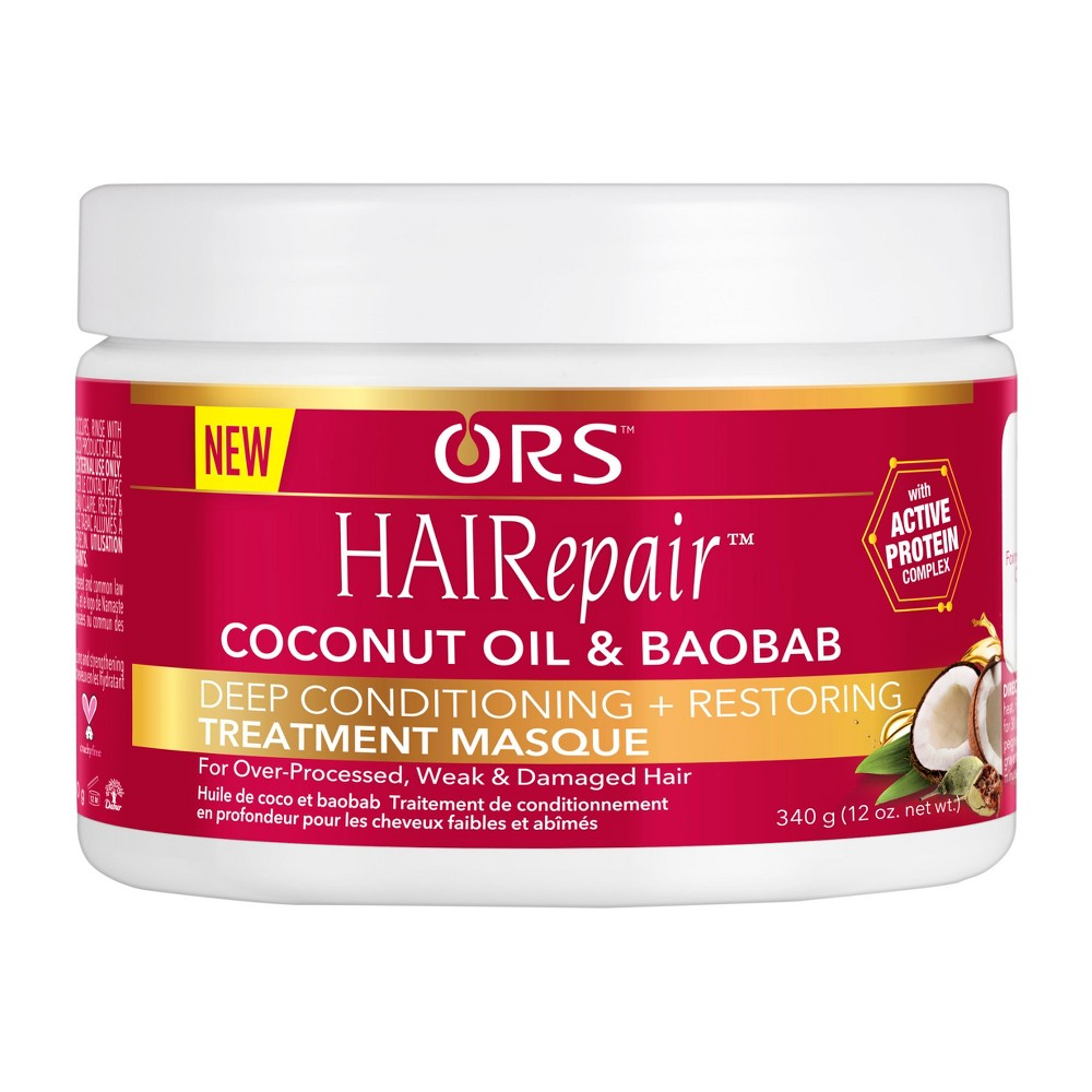 Image of ORS HAIRepair Coconut Oil & Baobab Deep Conditioning + Restoring Treatment Masque - 12oz
