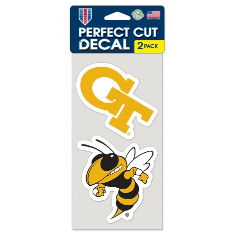 NCAA Georgia Tech Yellow Jackets Window Decal 2pk - image 1 of 1