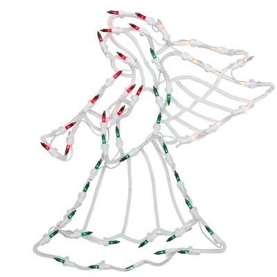 "Northlight 18"" Lighted Trumpeting Angel Christmas Window Silhouette Decoration"