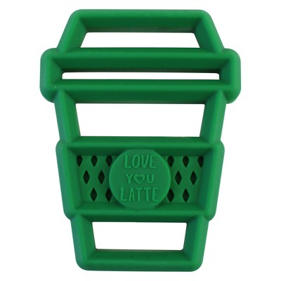 Itzy Ritzy Silicone Teether Latte - Green