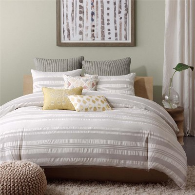 3pc Full/Queen Lakeside Duvet Cover Mini Set Gray