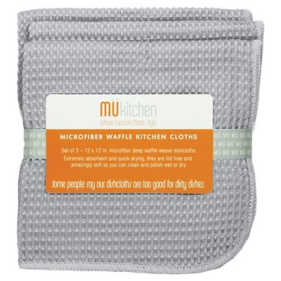 Waffle Micro Cloth Set Storm (12 X12 )- Mu Kitchen