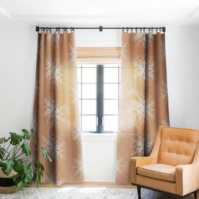 Lisa Argyropoulos Cozy Flurries Single Panel Blackout Window Curtain - Deny Designs