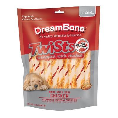 Dreambone Chicken Twist Sticks Dog Treats - 50ct