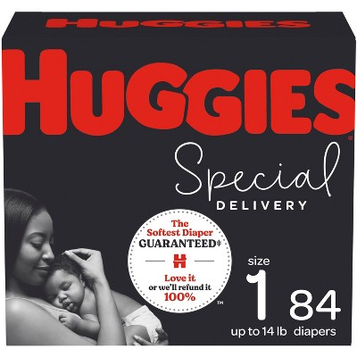 Huggies Special Delivery Hypoallergenic Baby Disposable Diapers Super Pack - Size 1 - 84ct