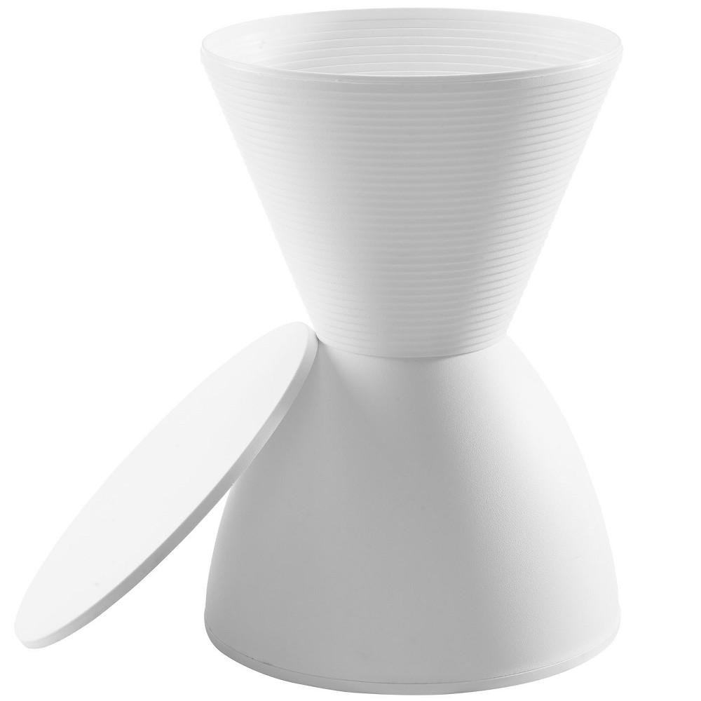 Image of Haste Stool White - Modway