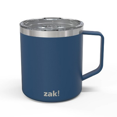 Zak! Designs 13oz Double Wall Stainless Steel Explorer Mug - Blue