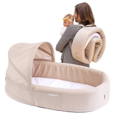 Lulyboo Portable Baby Lounge and Travel Nest - Oat