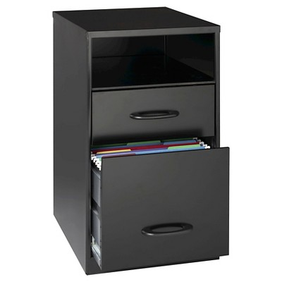 Hirsh Industries® Space Solutions File Cabinet Black, 2 Drawer with Compartment - Black