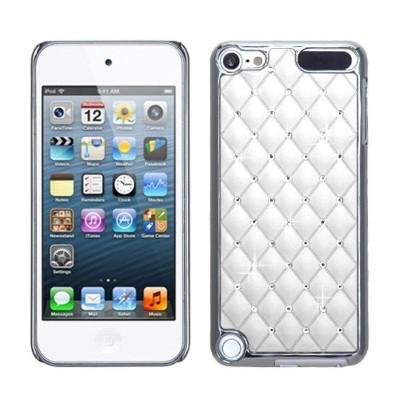 MYBAT For Apple iPod Touch 5th Gen/6th Gen White Silver Lattice Hard Chrome Case Cover