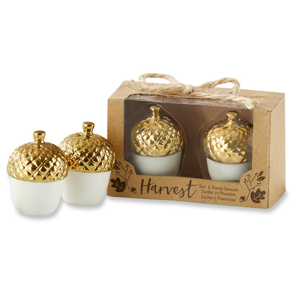 Image of 4ct Kate Aspen Gold Acorn Salt and Pepper Shakers
