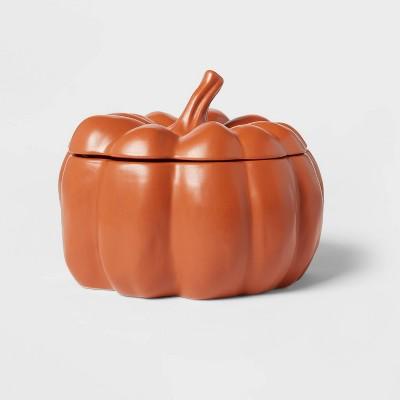 93.3oz Stoneware Pumpkin Tureen Serving Dish Orange - Threshold™