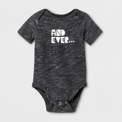 Baby Short Sleeve And Ever Graphic Bodysuit - Cat & Jack™ Black 6-9M