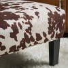 Set of 2 Kassi Cowhide Print Upholstered Accent Chair - Christopher Knight Home - image 4 of 4