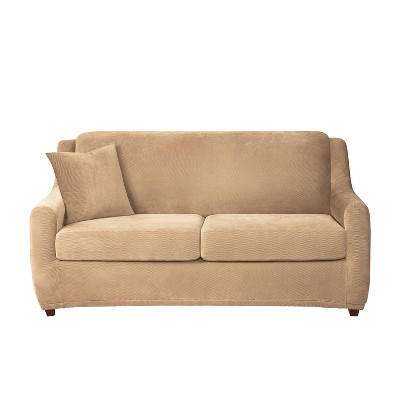 3pc Stretch Pique Sleeper Sofa Slipcovers - Sure Fit