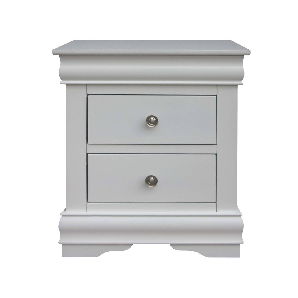 Orleans 2 Drawers Nightstand White - Steve Silver