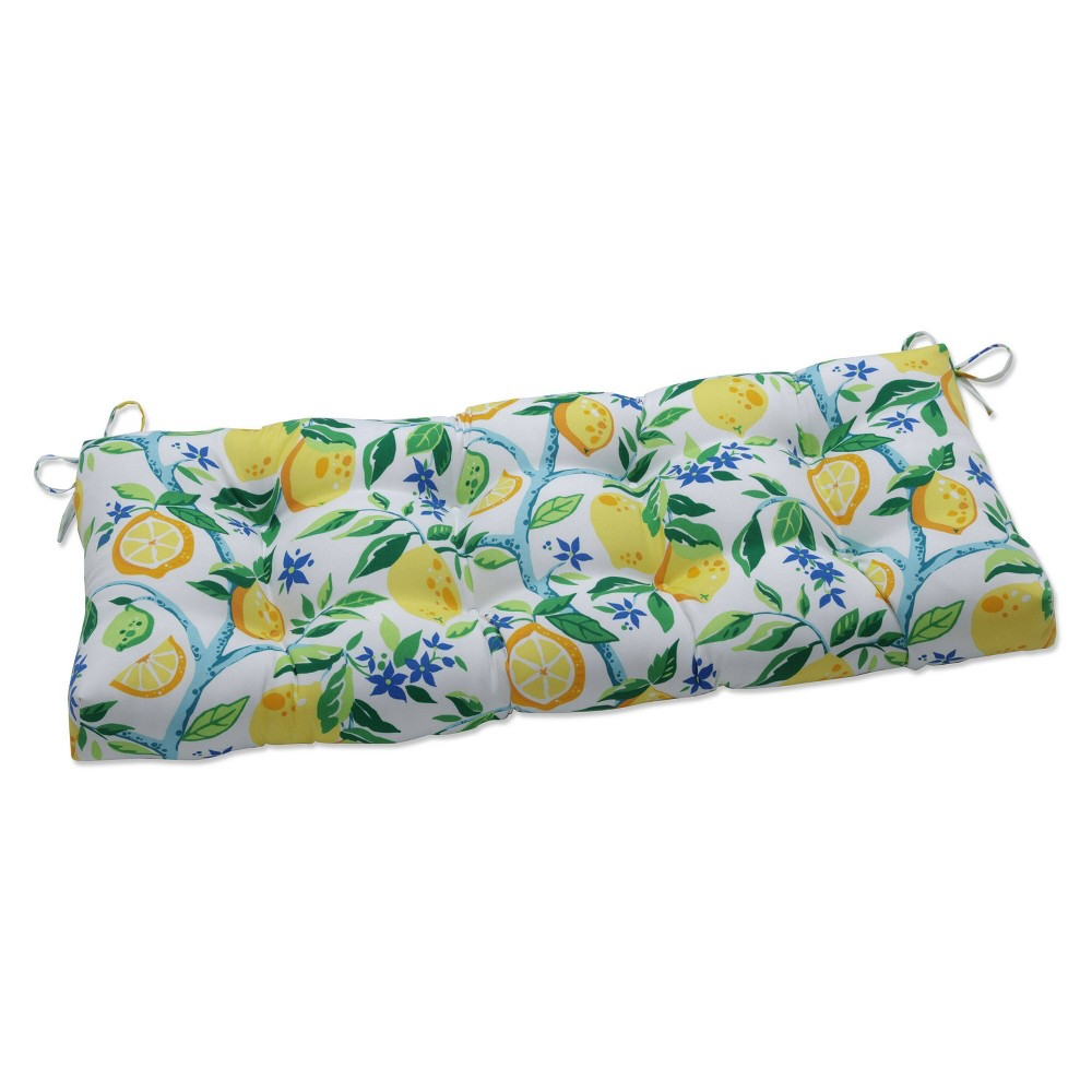 48 34 X 18 34 Outdoor Tufted Bench Swing Cushion Lemon Tree Yellow Pillow Perfect