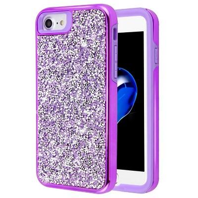 MYBAT For Apple iPhone 6/6s/7/8 Purple Hard Bling Case Cover