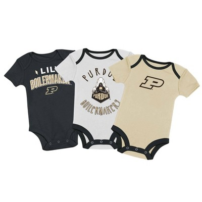 NCAA Purdue Boilermakers Baby Boys' 3pk Bodysuit Set