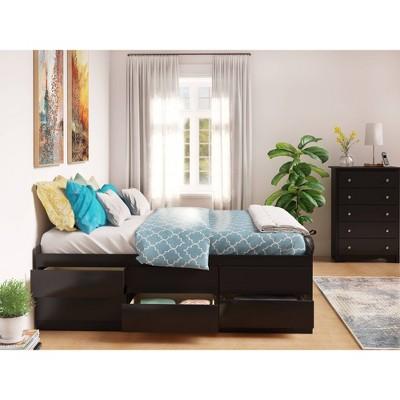 12 drawer Tall Platform Storage Bed - Queen - Prepac