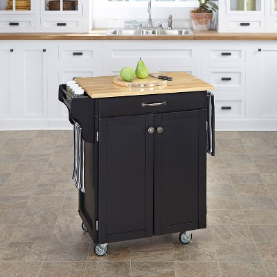 Cuisine Kitchen Cart Black Base - Home Styles