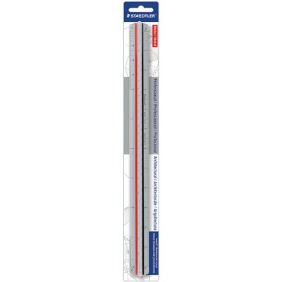 "Staedtler Architects Triangular Scale Mars ALM 12"" Silver 987M1831BK"