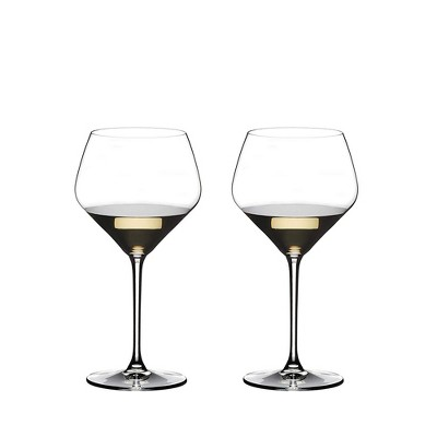 Riedel Extreme Oaked Chardonnay Crystal Dishwasher Safe Stemmed White Wine Glass, 23.63 Ounce (2 Pack)