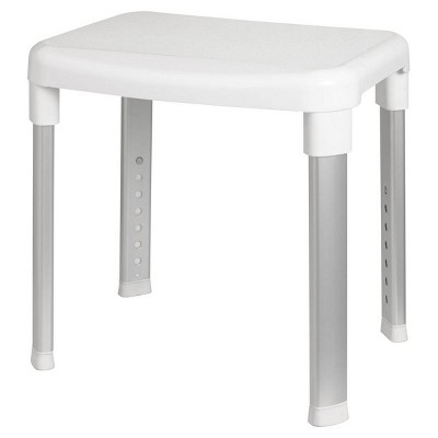 Deluxe Bathroom Stool White - evekare