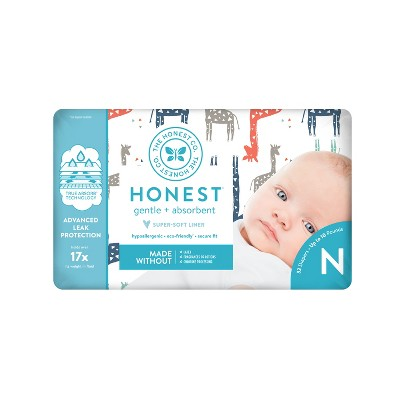 The Honest Company Diapers Giraffes - Size Newborn - 32ct