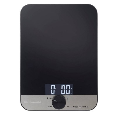 KitchenAid 11lb Glass Surface Kitchen Scale