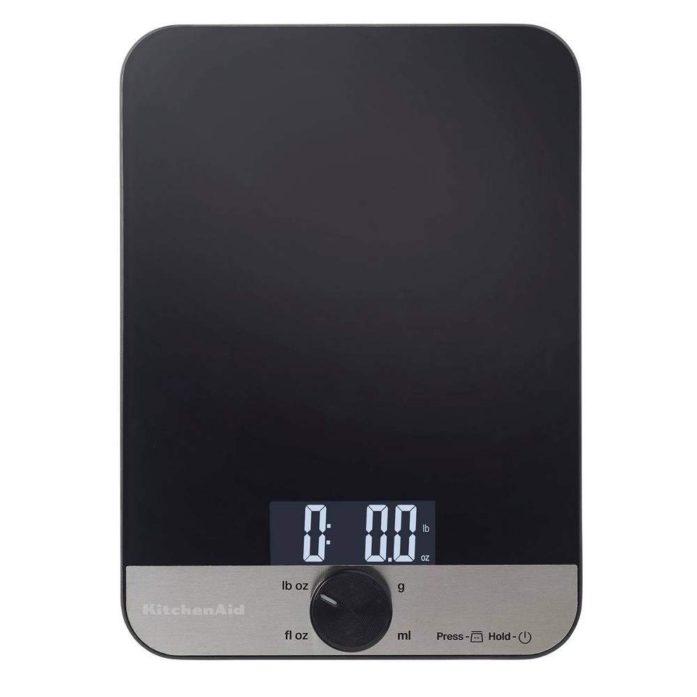 Image of KitchenAid 11lb Glass Surface Kitchen Scale, Black