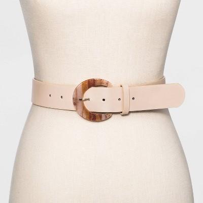 Women's Buckle Belt - A New Day™ Nude