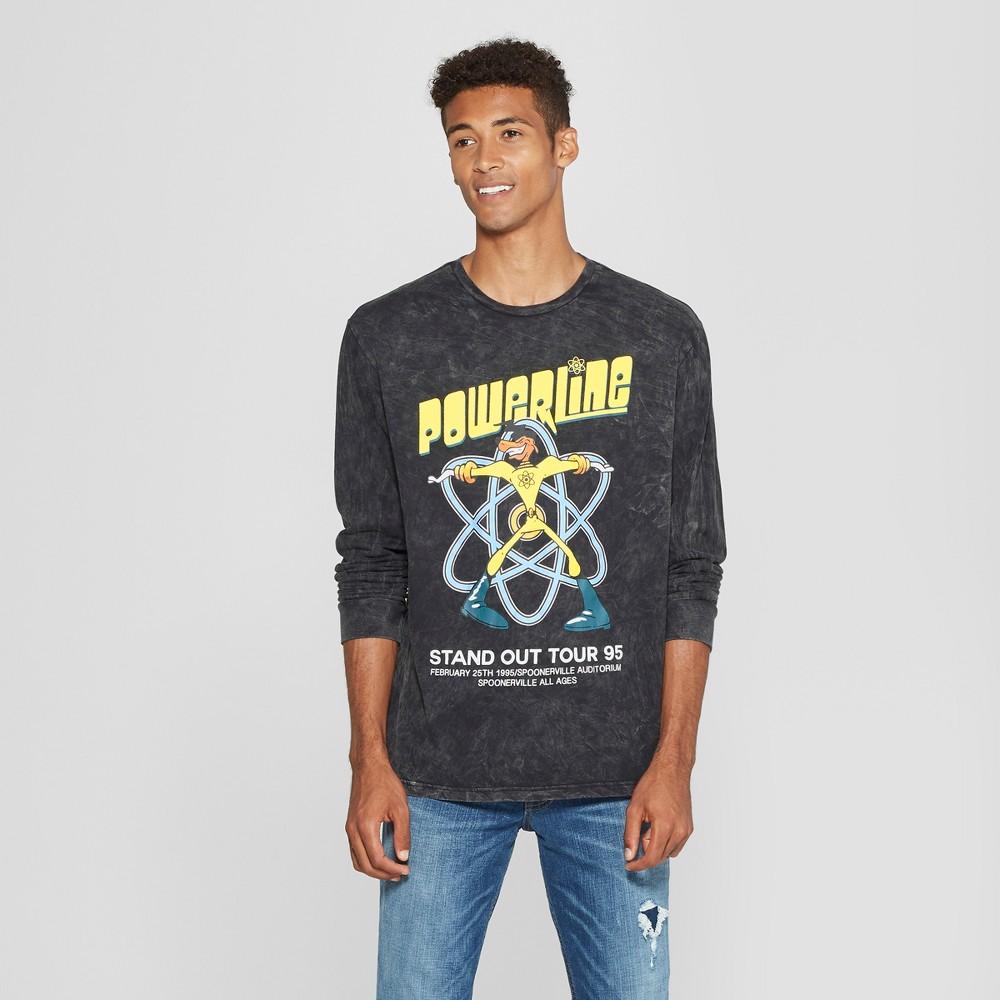 Men's Disney Powerline Long Sleeve T-Shirt - Black S