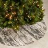 Saro Lifestyle Woodgrain Print Christmas Tree Skirt - image 2 of 4