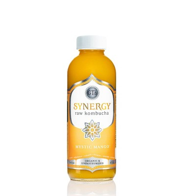 GT's Synergy Mystic Mango Organic Vegan Kombucha - 16 fl oz Bottle