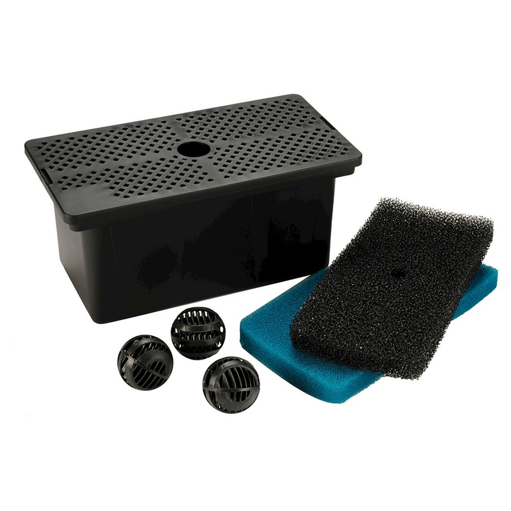 5.84 Pond Boss Universal Pump Filter Box, Black