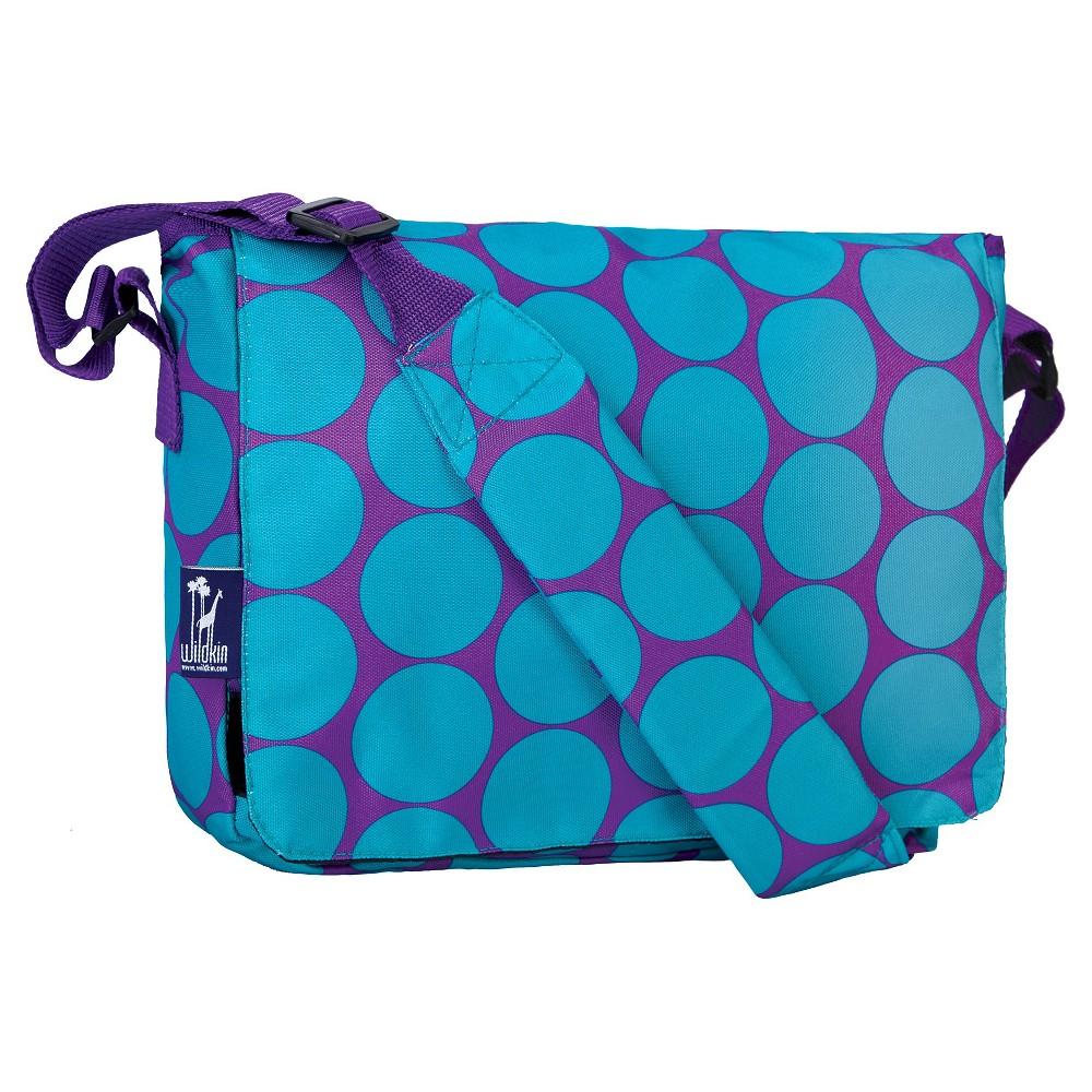 Wildkin Big Dot Kickstart Messenger Bag - Aqua (Blue)