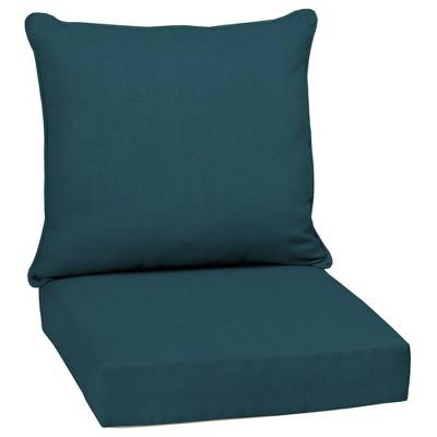 Atlantis Woven Outdoor Seat Cushion Set Blue - Arden Selections