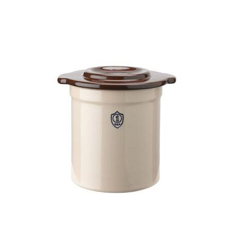 5-Gallon Stoneware Pickling Crock with Cover - Gardener's Supply Company - image 1 of 2