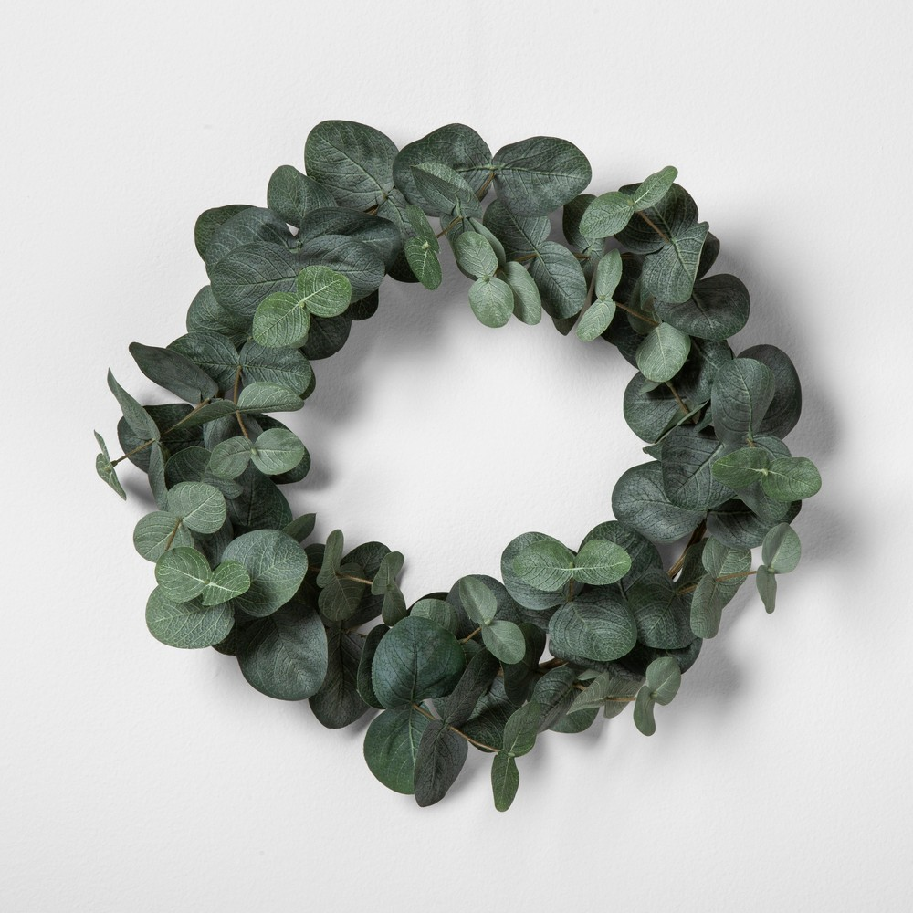 """Image of """"12"""""""" Faux Eucalyptus Wreath 12"""""""" - Hearth & Hand with Magnolia, Green"""""""