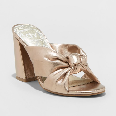Women's dv Knotted Mule Heels - Gold - image 1 of 3