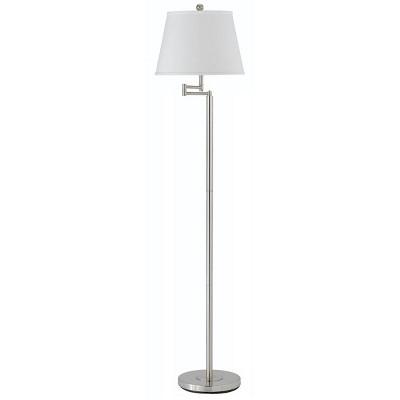 """60"""" 3-way Andros Metal Swing Arm Floor Lamp in Brushed Steel - Cal Lighting"""