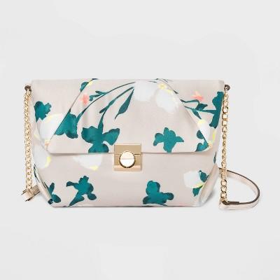 Floral Print Snap Closure Crossbody Bag - A New Day™