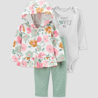 Baby Girls' Floral Top & Bottom Set - Just One You® made by carter's Pink/Green Newborn