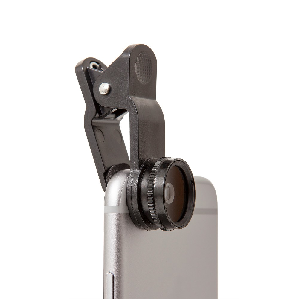 ReTrak Selfie Multi Lens Kit, Black Step up your mobile photography game with Retrak's Mobile Clip-On Lens Kit. The kit includes 3 different lenses to help enhance your photos and video! Color: Black.