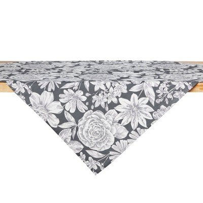 """50"""" Cotton Linear Floral Table Throw - Town & Country Living"""