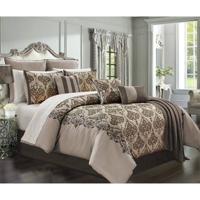 Riverbrook Home Queen Casablanca Comforter & Sham Set Bronze